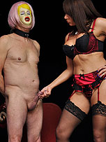 Mistress Carly dresses up her slave as a fuck doll from Mistress Carly